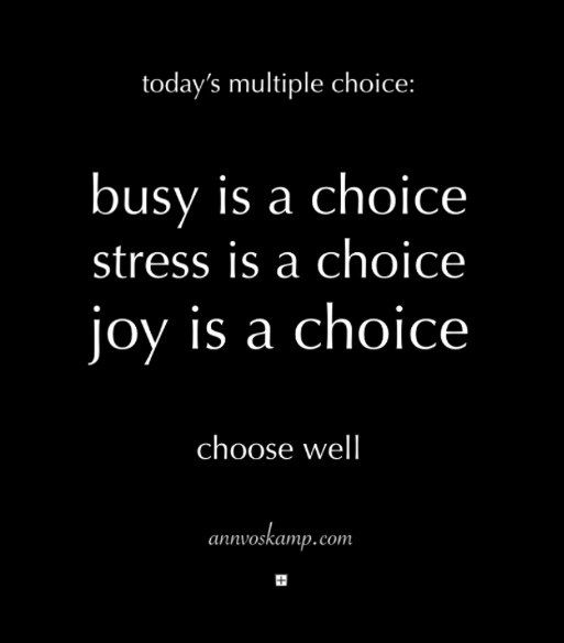 ac blog stress is a choice