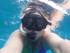 Having a good time snorkelling in Fiji Angela Counsel
